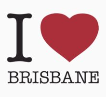 I ♥ BRISBANE One Piece - Short Sleeve