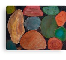 Lovely colourful Stones on dark Background Canvas Print