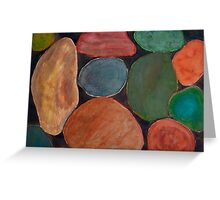 Lovely colourful Stones on dark Background Greeting Card