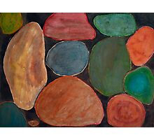 Lovely colourful Stones on dark Background Photographic Print