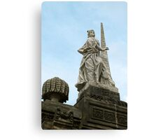 Statute of Fortidude in Bamberg Canvas Print