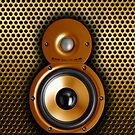 Speaker iphone case. gold edition by ALIANATOR