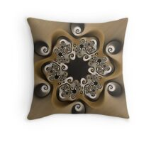 Twisted Shadows Throw Pillow