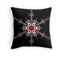 Solar Snowflake Throw Pillow