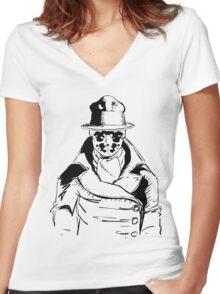 Rorschach from Watchmen Original Art Women's Fitted V-Neck T-Shirt