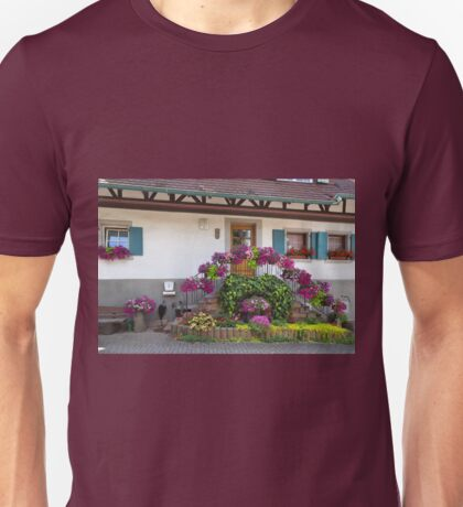 House and Flowers Unisex T-Shirt