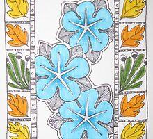 Bright Blue (Venus) Rose by Susan Genge