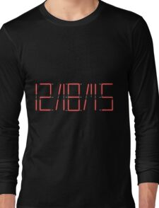 Star Wars Release Date with Lightsabers Long Sleeve T-Shirt