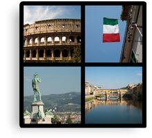 Italian icons Canvas Print