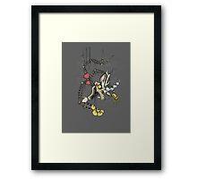 My Little Pony - MLP - FNAF - Discord Animatronic Framed Print