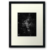 Oklahoma City map  Framed Print