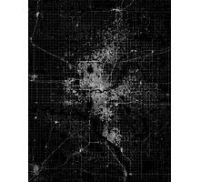 Oklahoma City map  Photographic Print