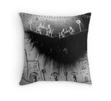 The look in the eye Throw Pillow