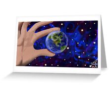 The world at my fingertips Greeting Card