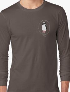 Penguin in Red Converse Crest Long Sleeve T-Shirt