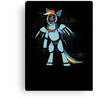 My Little Pony - MLP - FNAF - Rainbow Dash Animatronic Canvas Print