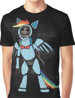 My Little Pony - MLP - FNAF - Rainbow Dash Animatronic Graphic T-Shirt