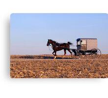 Amish Commute Canvas Print