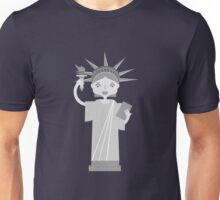 Liberty Statue is smiling Unisex T-Shirt