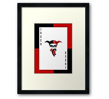 Chibi Harley Quinn Framed Print