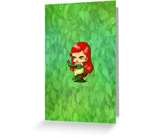 Chibi Poison Ivy Greeting Card