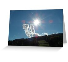 August Sky Greeting Card