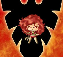 Chibi Dark Phoenix by artwaste