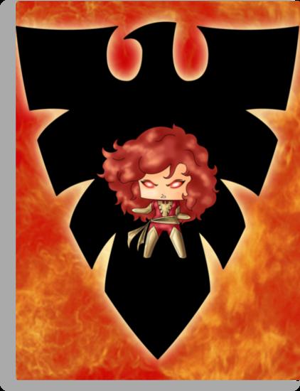 Chibi Dark Phoenix by artwaste