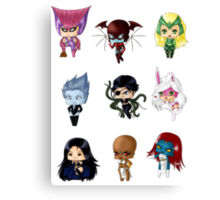 Chibi Villainesses 3 Canvas Print