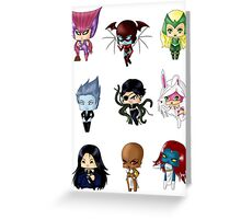 Chibi Villainesses 3 Greeting Card
