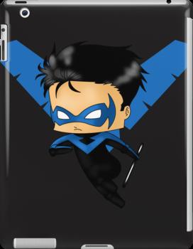 Chibi Nightwing by artwaste