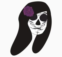 Sugar Skull-Purple Flower Kids Clothes