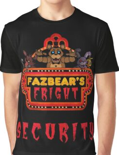 Five Nights at Freddy's - FNAF 3 - Fazbear's Fright Security Graphic T-Shirt