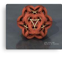 Celtic Knot Cube Canvas Print
