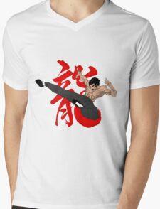 The Dragon Kick Mens V-Neck T-Shirt