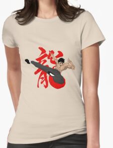 The Dragon Kick Womens Fitted T-Shirt