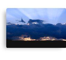 Storm Clouds & Sun Rays Canvas Print