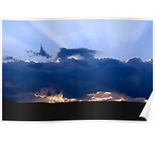 Storm Clouds & Sun Rays Poster