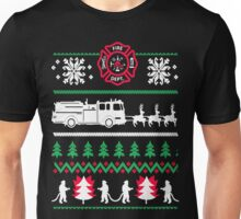 Firefighter Ugly Christmas Unisex T-Shirt