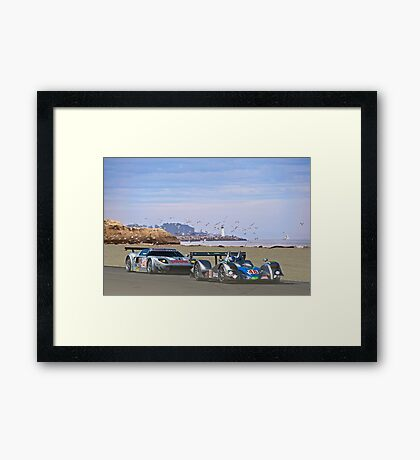 Racing on the West Coast Framed Print