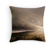Shelf Cloud Sunset Throw Pillow