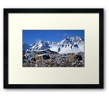 Scenic Sierra Snow Scene  Framed Print