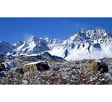 Scenic Sierra Snow Scene  Photographic Print
