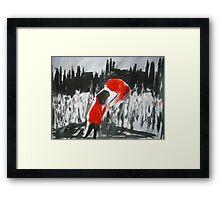 The Girl In The Red Rain Coat (Part 4) - Wall Art  Framed Print