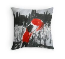 The Girl In The Red Rain Coat (Part 4) - Wall Art  Throw Pillow