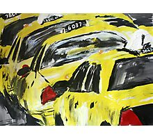 New York Taxis - Wall Art Photographic Print