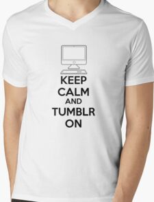 Keep calm and Tumblr on Mens V-Neck T-Shirt