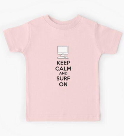 Keep calm and surf on Kids Tee