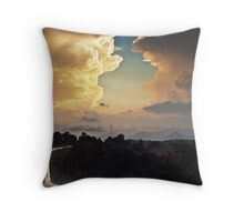 Chasing the storm. Throw Pillow