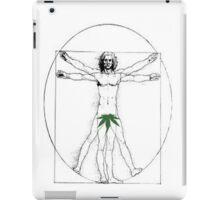 Vitruvian Man with a Cannabis Leaf iPad Case/Skin